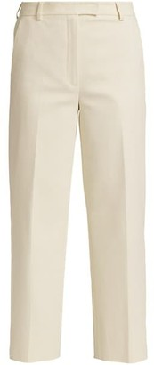 Akris Christelle Cotton & Silk Crop Wide-Leg Trousers