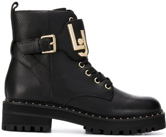 Liu Jo Lace-Up Combat Boots