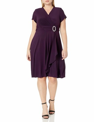 R & M Richards R&M Richards Women's Size One-Piece Ring Dress Plus