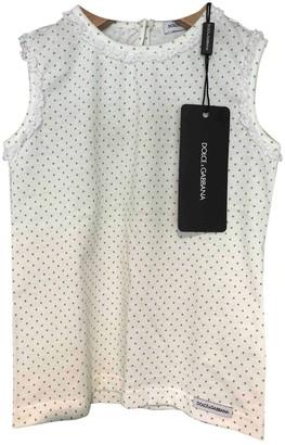 Dolce & Gabbana Beige Cotton Tops