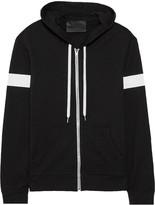 Norma Kamali Printed stretch-cotton hooded jacket