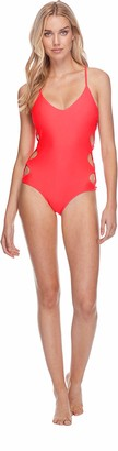 Body Glove Women's Crissy Solid One Piece Swimsuit with Strappy Side Detail