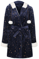 George Star Print Fleece Dressing Gown