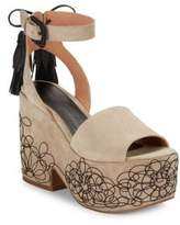 Sigerson Morrison Beia Suede Platform Sandals