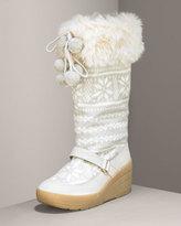 Knit & Faux Fur Boot