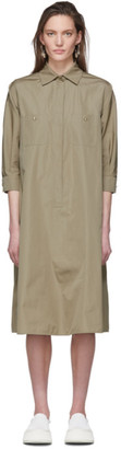 Max Mara Taupe Vibo Shirt Dress