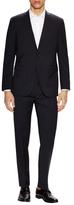 Wool Striped Notch Lapel Suit