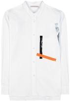 Christopher Kane Metallic Embellished Cotton-blend Shirt