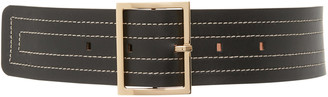 MAISON BOINET Wide Stitched Leather Belt