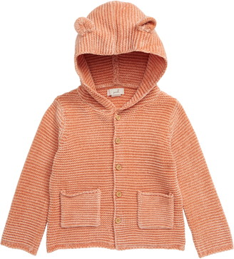 Peek Aren't You Curious Sam Chenille Hooded Cardigan