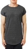 Topman Longline Drop Shoulder Cap Sleeve T-Shirt