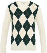 ÉDITIONS M.R Argyle-intarsia wool sweater