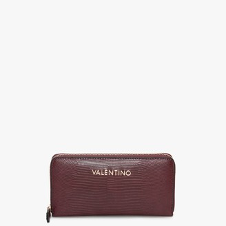 Valentino By Mario Valentino Kensington Vino Reptile Zip Around Wallet
