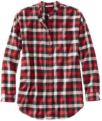 L.L. Bean Signature Lightweight Flannel Oversized Shirt, Plaid