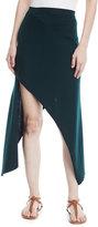 Rosetta Getty Reversible Pinwheel Midi Skirt