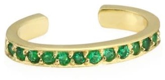 Anita Ko 18K Yellow Gold & Emerald Single Ear Cuff