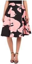 Halston High Waist Printed Structured Skirt