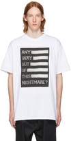Raf Simons White 'Any Way Out of This Nightmare?' Easy Fit T-Shirt
