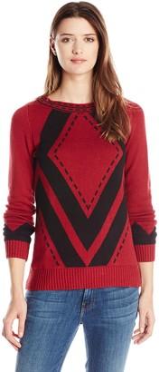 Heather B Women's Diamond Pattern Pullover