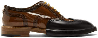 Burberry Black and Brown Transparent Len Brogues
