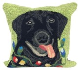 "Liora Manné Frontporch Seasons Greetings Dog Pillow Green - (18""x18"") Square"