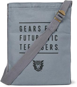 Human Made Logo-Print Canvas Messenger Bag