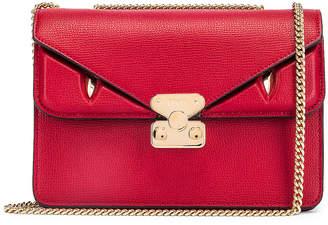 Fendi Chain Bug Bag in Strawberry & Tobacco | FWRD