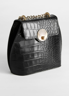 And other stories Curved Croc Leather Small Bag