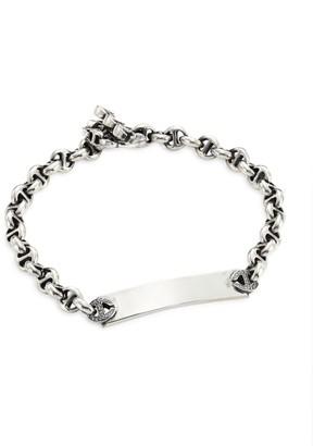 Hoorsenbuhs Open-Link Sterling Silver & Diamond Monogram Bracelet
