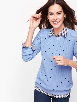 Talbots Pima Cotton Shaker Stitch Sweater - Dot