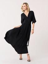Diane von Furstenberg Eloise Silk Crepe de Chine Maxi Faux-Wrap Dress