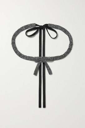 Loeffler Randall Delilah Crystal-embellished Grosgrain Belt - Black