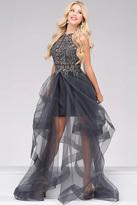 Jovani Embellished Halter Neck Tiered Dress 47570