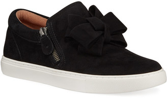Gentle Souls Hale Ribbon Suede Slip-On Sneakers