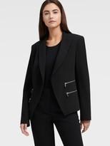 DKNY Structured Blazer With Zipper Details