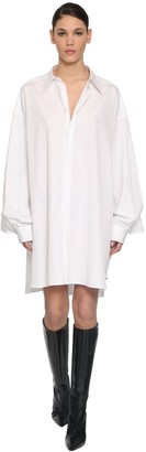 Maison Margiela Cotton Poplin Shirt Dress