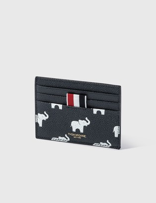 Thom Browne Elephant Print Single Card Holder