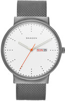 Skagen Men's Gray Titanium Mesh Bracelet Watch 40mm SKW6321