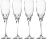 Mikasa Capella Crystal Champagne Flute Glasses, Set of 4