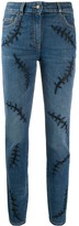 Moschino embroidered detail skinny jeans