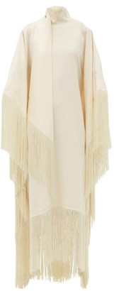 Taller Marmo Mrs Ross Fringed Crepe Dress - Ivory