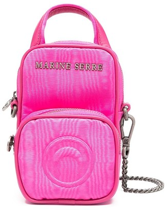 Marine Serre Logo Plaque Mini Backpack Purse