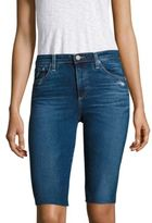 AG Jeans Brooke Distressed Denim Bermuda Shorts