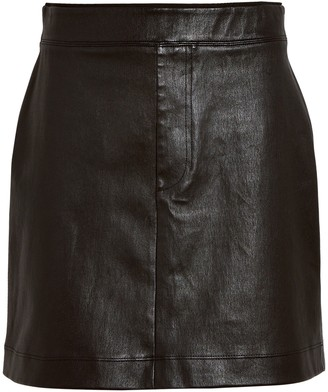 Helmut Lang Core Stretch Leather Mini Skirt