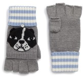 Kate Spade Women's French Bulldog Merino Wool Pop-Top Mittens
