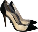 Gianvito Rossi Plexi Black Velvet Heels
