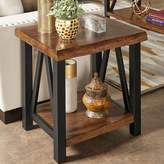 Homevance HomeVance Ackerly Mixed Media Rustic End Table