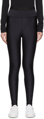 Moncler Black Shiny Leggings