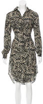 L'Agence Silk Button-Up Dress