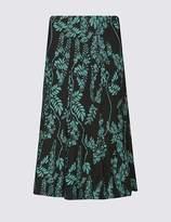 Marks and Spencer Jacquard Print A-Line Midi Skirt